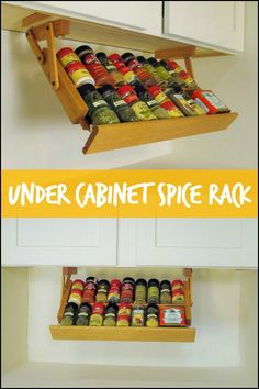 This Under Cabinet Spice Rack Keeps All Of Your Spices Lined Up And Easy To  Access