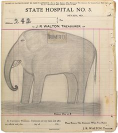 """Translated from French: Around 1910, a patient in a mental asylum Nevada, Missouri (State Lunatic Asylum No. 3) runs 283 drawings on the letterhead of the institution. He calls himself the """"electric pencil"""". Double click for more."""