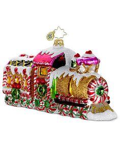 Christopher Radko Christmas Ornament, Sugar Express - Holiday Lane - Macy's