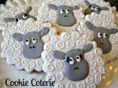 Sheep Little Lamb Decorated Cookies Birthday by CookieCoterie
