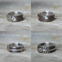 Til Death Do Us Part Ring - This ring is cast from hand-carved wax and inspired by mourning rings from a time past with a focus on the living this time around.