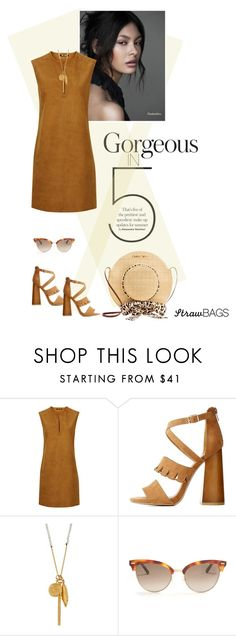 """""""Carry On: Straw Bags"""" by fashionmonkey1 ❤ liked on Polyvore featuring BLK DNM, Qupid, Chan Luu and Gucci"""