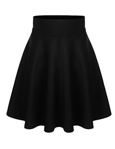 BIADANI Women Versatile Flared Stretch Wide Band Skater Skirts (S-3X) ** Details can be found by clicking on the image.