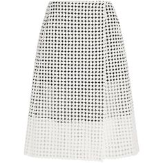 Victoria Beckham Denim Crocheted cotton wrap skirt (6 185 UAH) ❤ liked on Polyvore featuring skirts, victoria beckham, bottoms, print skirt, cotton knee length skirt, cotton skirts, macrame skirt and mid thigh skirts