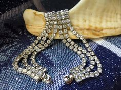 Three Tier Rhinestone Wrap Post Earrings  by ChicAvantGarde $42 too fab