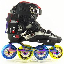 US $143.50 Inline skate Speed skates shoe shell R5 with frame and wheels New Professional Inline Roller Skating Shoes. Aliexpress product