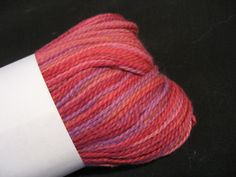 Dragon Tale Cotton Yarn Berry Pie by brushcreekwoolworks on Etsy, $4.50