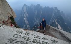 """Mount Hua is affectionately known as """"Death Mountain"""" by those who dare to ascend it's narrow tight-rope like pathways. This is definitely a destination that requires nerves of steel! Pathways, Travel Ideas, Mount Everest, Places To Go, Hiking, Mountains, World, The World, Hill Walking"""