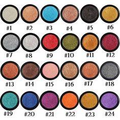 24 Colors Glitter Shimmer Metallic Eyeshadow Palette Pigment Eye Shadow Charm HQ #Unbranded