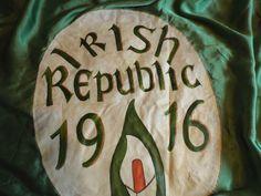 RARE LARGE IRISH REPUBLICAN 1916 IRA SILK BANNER FLAG in Collectables, Militaria, Inter-War (1919-1938) | eBay