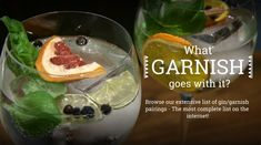 What Garnish Goes with What gin? Or What Gin goes with what Garrnish? Checkout our extensive Database. With Gin Garnish and Awards Easy Cocktails, Cocktail Recipes, Drinks, Drink Recipes, Gin Garnish, Awards, Favorite Recipes, 50th, Cakes