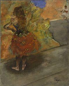 Degas - Ballet Dancer, c. 1873-1900 Oil on canvas laid down to aluminum panel, Harvard University Art Museums, Massachusetts