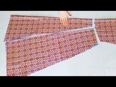 Flared Kurti in Less Fabric|6 Panel Kurti Cutting and Stitching|Kurti Cutting and Stitching - YouTube Neck Designs For Suits, Kurti Neck Designs, Dress Neck Designs, Easy Sewing Projects, Sewing Tutorials, Sewing Crafts, Dresses Kids Girl, Baby Dresses, Red Ball Gowns