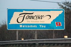 welcome to tennesee road sign