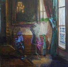 Olivier Masmonteil, En attendant que je te retrouve, 2012 Oil on canvas — 180 × 180 cm