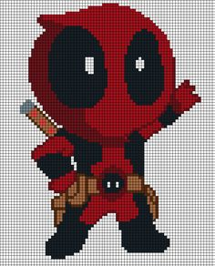 Chibi Deadpool pattern by Tsukinin on DeviantArt
