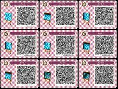 Animal Crossing water QR codes