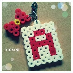 Letter charm perler beads by Haruna