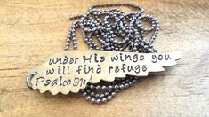 Under His wings you will find refuge Psalm 91:4 by JazzieJsJewelry