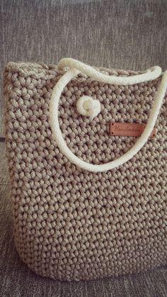 Handbags Rope bag knited bag Diaper Bags crochet bag by 2stitch
