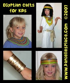 Egyptian Crafts and Leaning Activities for Children from www.daniellesplace.com