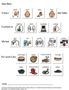 Communication Log Home From Student - Special Education  LOVE this! The students can tell their parents about their day.