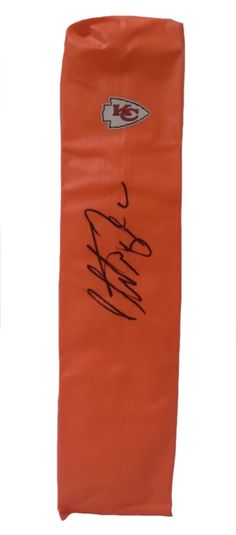 Christian Okoye Autographed Kansas City Chiefs Full Size Football End Zone Touchdown Pylon, Proof