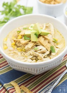 Slow Cooker Chicken Enchilada Soup – Like Mother, Like Daughter  Crockpot reci...  CREAMY WHITE CHICKEN CHILI Slow Cooker Chicken Enchilada Soup – Like Mother, Like Daughter  Crockpot recipes white chicken chili 5