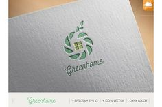 Green home by NIN-ideate on @creativemarket