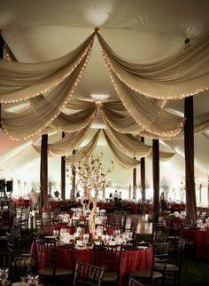 decoraciones para boda con telas