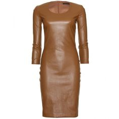 The Row Quarny Leather Dress ($3,654) ❤ liked on Polyvore