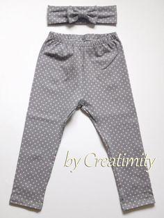 Baby girl leggingsbaby girl pantsbaby cotton by CreatimityCasual