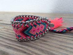 OOAK friendship bracelet in beautiful neon colors by BonkIbiza