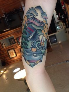 traditional camping tattoos - Google Search