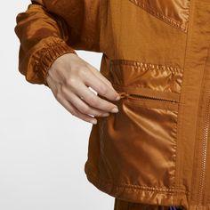 Nike Sportswear Windrunner Women's Cargo Jacket - Brown Cargo Jacket, Nike Jacket, Just Do It, Nike Sportswear, Casual Chic, Icon Design, Leather Jacket, Jackets, Street