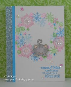 KT Fit Kitty: Cat Lovers Hop | Beautiful Blizzard stamp set by Newton's Nook Designs #newtonsnook