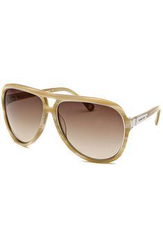 Michael Kors - Ladies' Isla Aviator Sunglasses in Horn and Silver