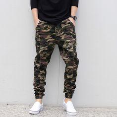 Spring Autumn Male Camouflage Jogger Pants Men Fashion Elastic Waist Casual Skinny Pants Man Harem Pants Plus Size Trousers 6XL