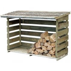 Forest Garden 6 x 3 ft Pressure Treated Timber Log Store