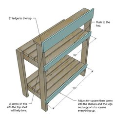 Simple Potting Bench (With images) Outdoor Potting Bench, Pallet Potting Bench, Potting Tables, Outdoor Pallet, Outdoor Ideas, Pallets Garden, Wood Pallets, Pallet Wood, Garden Benches
