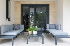 Outdoor Sectional, Sectional Sofa, Outdoor Furniture Sets, Outdoor Decor, Windows, Doors, Pretty, Home Decor, Modular Couch