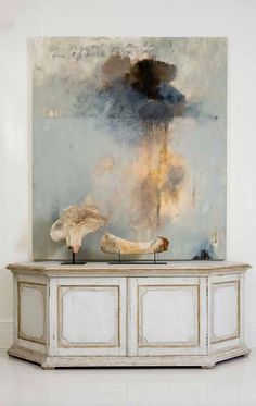 Tara Shaw Maison 2013 Love the abstract art with the beautiful console Painting Inspiration, Art Inspo, Modern Art, Contemporary Art, Painting & Drawing, Abstract Art Paintings, Diy Abstract Art, Pink Painting, Diy Art