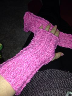 Knitted hand warmers