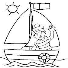 bateau coloriage