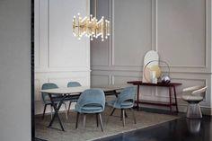 Knoll Saarinen & Platner chairs and Maxalto tables Minima