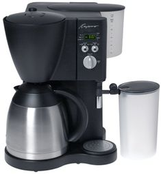 Capresso CoffeeTEC Digital Coffeemaker with Stainless Steel Vacuum Carafe and FrothXpress, Black Best Drip Coffee Maker, K Cup Coffee Maker, Cappuccino Maker, Espresso Coffee Machine, French Press Coffee Maker, Espresso Maker, Best Coffee, Coffee Cups, Coffee Tables