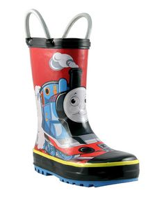 Loving this Blue Thomas All Aboard Rain Boot on #zulily! #zulilyfinds My son loves Thomas and friends, so getting these :)