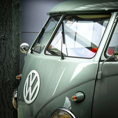 My mother had a VW bus just like this when we lived in Alaska.