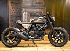Killer bobbed Ducati Scrambler from Officine Mermaid Cycle Co