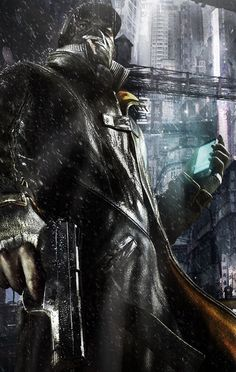 Watch dogs Illustration Photo, Illustrations, Video Game Movies, Video Game Art, Console Arcade, Watch Dogs 1, Dope Cartoons, Wolf, Bioshock